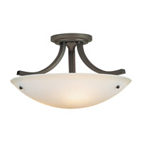 Feiss SF189ORB Gravity 3 Light 16 inch Oil Rubbed Bronze Semi Flush Mount Ceiling Light