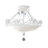 Chateau Blanc 2 Light 16 inch Semi Gloss White Semi Flush Mount Ceiling Light in Standard, Opal Etched Glass