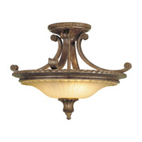 Stirling Castle 2 Light 19 inch British Bronze Semi Flush Mount Ceiling Light in Standard
