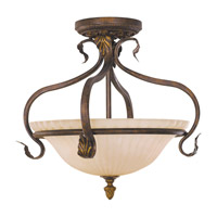 Feiss Sonoma Valley 3 Light Semi Flush Mount in Aged Tortoise Shell SF215ATS
