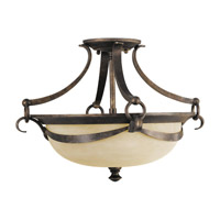 Feiss Segovia 2 Light Semi-Flush Mount in Peruvian Bronze SF218PBR photo thumbnail