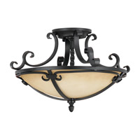 Feiss Kings Table 2 Light Semi Flush Mount in Black  SF229BK