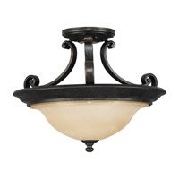 Feiss Cervantes 2 Light Semi Flush Mount in Liberty Bronze SF231LBR