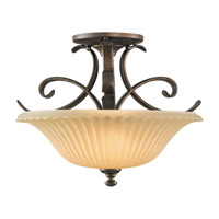 Feiss Somerset 2 Light Semi Flush Mount in British Bronze SF246BRB