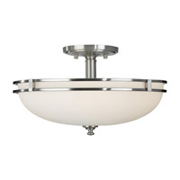 Feiss Kellenberg 2 Light Semi Flush Mount in Brushed Steel SF256BS