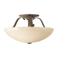 Feiss Kinsey 2 Light Semi Flush Mount in Corinthian Bronze SF263CB