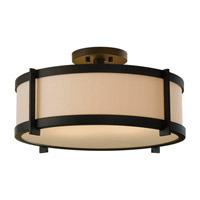 Stelle 2 Light 16 inch Oil Rubbed Bronze Semi Flush Mount Ceiling Light