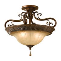 Feiss SF278FSV Celine 2 Light 17 inch Firenze Silver Semi Flush Mount Ceiling Light in Standard