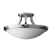 Perry 2 Light 16 inch Chrome Semi Flush Mount Ceiling Light in Standard
