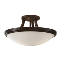 Perry 2 Light 16 inch Heritage Bronze Semi-Flush Ceiling Light in Fluorescent