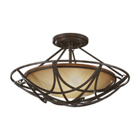 El Nido 2 Light 18 inch Mocha Bronze Semi Flush Mount Ceiling Light