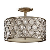 Feiss Lucia 3 Light Semi Flush Mount in Burnished Silver SF289BUS