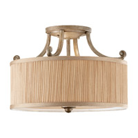Feiss Abbey 3 Light Semi Flush Mount in Silver Sand SF293SVSD