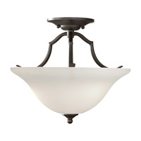 Beckett 2 Light 14 inch Oil Rubbed Bronze Semi Flush Mount Ceiling Light