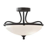 Feiss Merritt 2 Light Semi Flush Mount in Black SF295BK