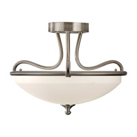 Feiss Merritt 2 Light Semi Flush Mount in Brushed Steel SF295BS