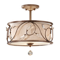 Feiss Priscilla 3 Light Semi Flush Mount in Arctic Silver SF300ARS