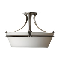 Feiss Spectra 3 Light Semi Flush Mount in Brushed Steel SF302BS photo thumbnail