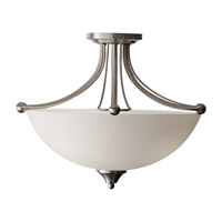 Feiss Morgan 3 Light Semi Flush Mount in Brushed Steel SF303BS photo thumbnail