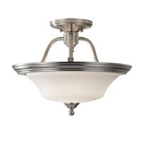 Feiss Cumberland 2 Light Semi Flush Mount in Brushed Steel SF307BS