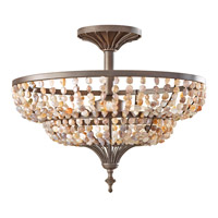 Feiss Maarid 3 Light Semi Flush Mount in Rustic Iron SF311RI
