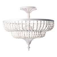 Feiss Maarid 3 Light Semi Flush Mount in White Semi Gloss SF311WSG
