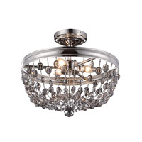 Malia 3 Light 16 inch Polished Nickel Semi Flush Mount Ceiling Light