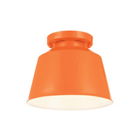 Feiss Freemont 1 Light Outdoor Lantern Flushmount in Hi Gloss Orange OL15013SHOG