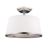 Pentagram 2 Light 13 inch Satin Nickel / Polished Nickel Semi-Flush Ceiling Light in Standard