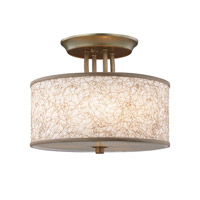 Feiss Parchment Park LED Semi-Flush in Burnished Silver SF323BUS-LA