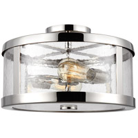 Feiss SF341PN Harrow 2 Light 15 inch Polished Nickel Semi Flush Mount Ceiling Light