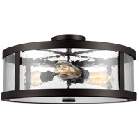 Harrow 3 Light 20 inch Oil Rubbed Bronze Semi Flush Mount Ceiling Light