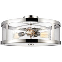 Harrow 3 Light 20 inch Polished Nickel Semi Flush Mount Ceiling Light