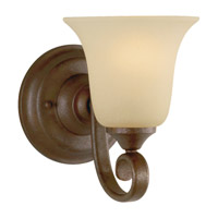 Vista 1 Light 6 inch Corinthian Bronze Vanity Strip Wall Light in Cream Snow Glass