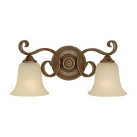 Feiss Vista 2 Light Vanity Strip in Corinthian Bronze VS10402-CB