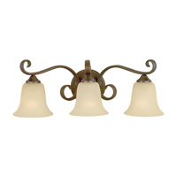 Vista 3 Light 23 inch Corinthian Bronze Vanity Strip Wall Light in Cream Snow Glass
