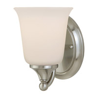 Claridge 1 Light 5 inch Brushed Steel Vanity Strip Wall Light