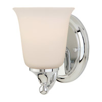 Claridge 1 Light 5 inch Chrome Vanity Strip Wall Light