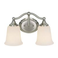 Feiss Claridge 2 Light Vanity Strip in Brushed Steel VS10502-BS photo thumbnail
