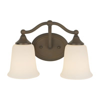 Claridge 2 Light 13 inch Oil Rubbed Bronze Vanity Strip Wall Light