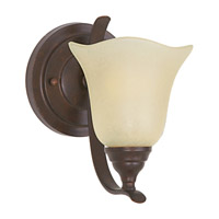 Morningside 1 Light 6 inch Grecian Bronze Vanity Strip Wall Light in Cream Snow Glass, 5.5