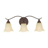Feiss VS10603-GBZ Morningside 3 Light 23 inch Grecian Bronze Vanity Strip Wall Light in Cream Snow Glass
