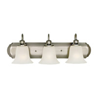 Feiss Vista 3 Light Vanity Strip in Brushed Steel VS10703-BS