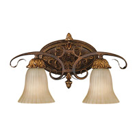 Feiss VS10902-ATS Sonoma Valley 2 Light 19 inch Aged Tortoise Shell Vanity Strip Wall Light in 18.5 photo thumbnail