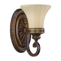 Drawing Room 1 Light 6 inch Walnut Vanity Strip Wall Light in 6.25