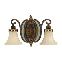 Feiss VS11202-WAL Drawing Room 2 Light 18 inch Walnut Vanity Strip Wall Light in 18.25