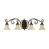 Drawing Room 4 Light 38 inch Walnut Vanity Strip Wall Light in 37.75