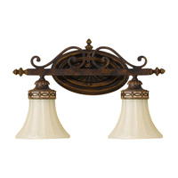Drawing Room 2 Light 16 inch Walnut Vanity Strip Wall Light