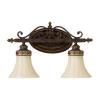 Feiss VS12502-WAL Drawing Room 2 Light 16 inch Walnut Vanity Strip Wall Light