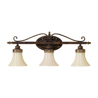 Drawing Room 3 Light 26 inch Walnut Vanity Strip Wall Light